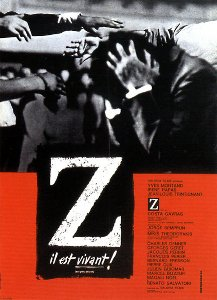Poster of the legendary movie Z by Costa Gavra...