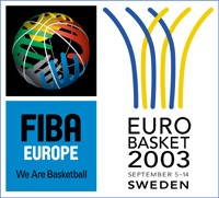 Official logo of the EuroBasket 2003