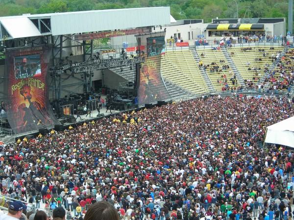 Rock on the Range's Main Stage at Columbus Crew Stadium in 2008