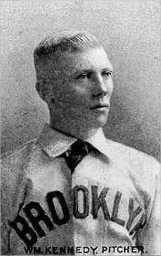 Brickyard Kennedy was the Opening Day starting pitcher six times, more often than any other pitcher during the franchise's time in Brooklyn.