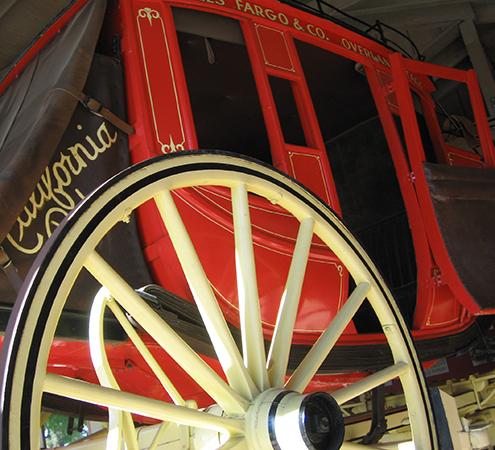 Authentic Wells Fargo Coach at California Rodeo Salinas Heritage Museum.