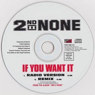 If You Want It (2nd II None song)