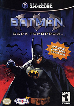Official poster of Batman: Dark Tomorrow game launched in 2003.