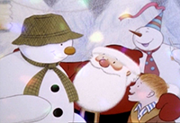 James and his snowman (from the 1982 film) mee...