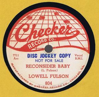 Reconsider Baby Blues standard written by Lowell Fulson