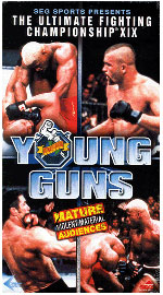 A poster or logo for UFC 19: Ultimate Young Guns.