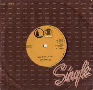 All Night Long (Joe Walsh song) 1980 single by Joe Walsh