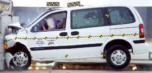Frontal crash test of a Chevrolet Venture