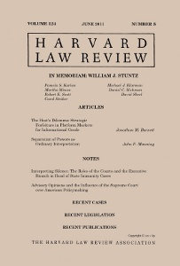 Harvard Law Review (June 2011 cover)