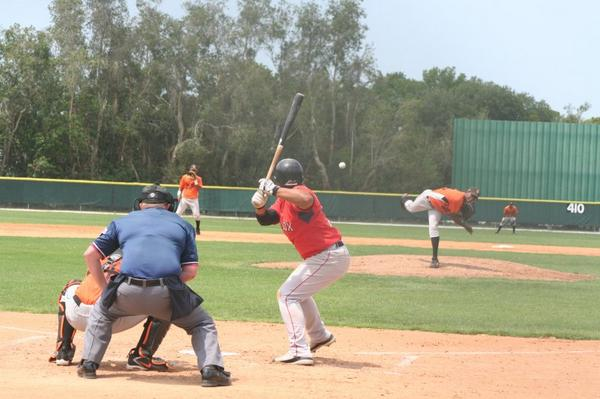 An extended spring training game between the Red Sox and Orioles in Sarasota, Florida, during the 2008 season Red sox orioles xst.jpg