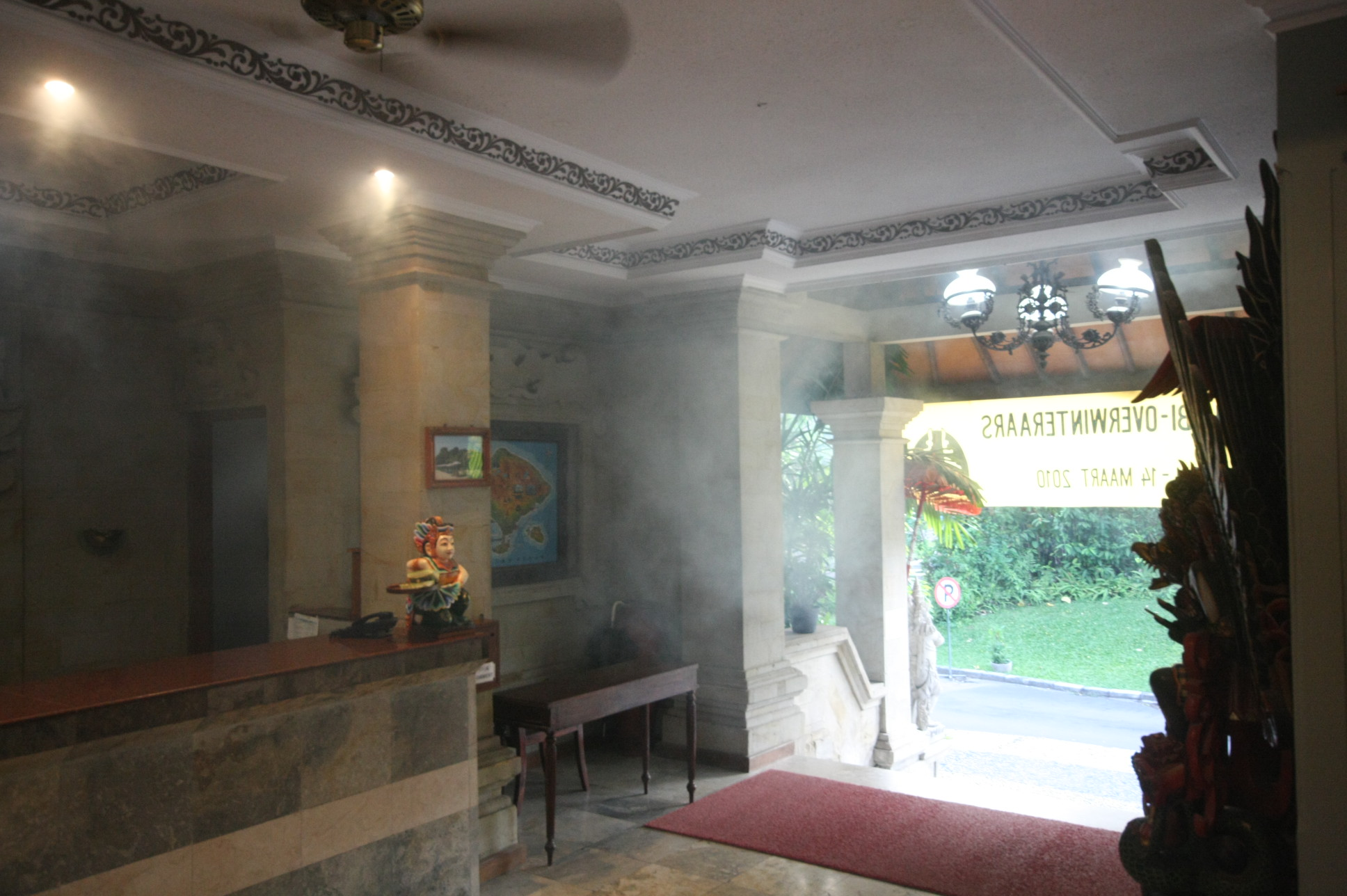 Fumigation of a hotel (Vila Shanti) in Bali where the smoke even reaches the hotel lobby (Feb 2010). & Fumigation - Wikipedia