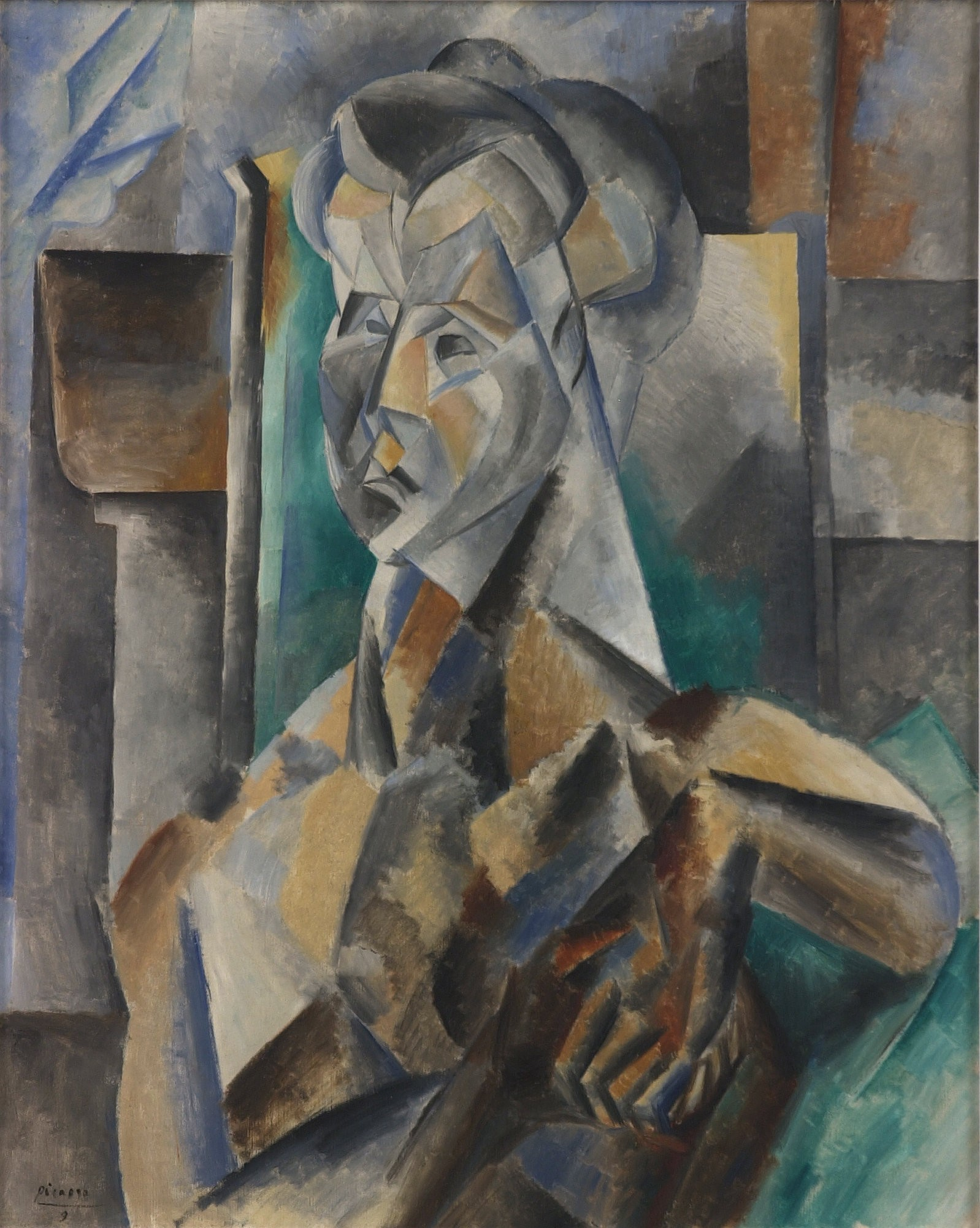 File:Pablo Picasso, 1909, Buste de femme, Femme en vert, Femme ...