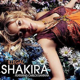 Shakira featuring Carlos Santana — Illegal (studio acapella)