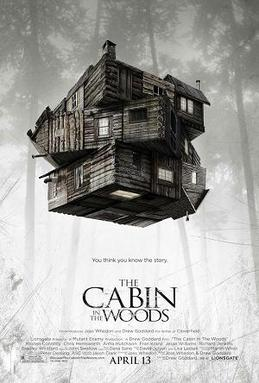 The Cabin In the Woods movie poster, posted via wikipedia, under their fair use license, Teaser image by Source