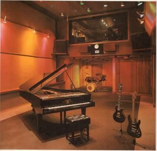 Trident Studios interior circa 1975 from the Studio and the famous Bechstein Piano Trident Studios 1975.jpg