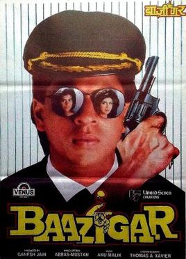 Baazigar 1993 My fav.Top 10 films of Shahrukh Khan