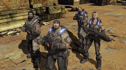 Gears of War 3 campaign screenshot featuring Marcus Fenix and Delta Squad.png