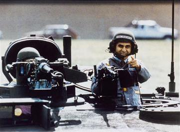 The photograph of Dukakis in an M1 Abrams tank from the US presidential election of 1988. Michael Dukakis in tank.jpg