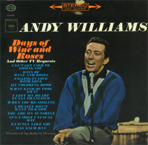 <i>Days of Wine and Roses and Other TV Requests</i> album by Andy Williams
