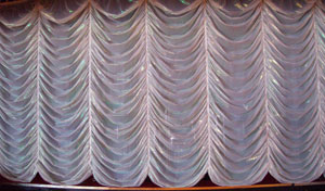 Front curtain stage curtain(s) at the very front of a theatrical stage