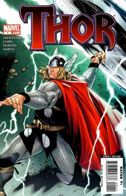 Thor on the cover of the first issue of volume...