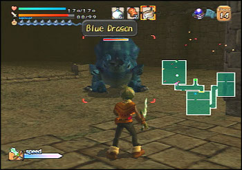 blue dragon gameplay