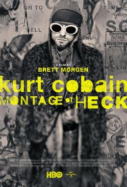 Poster for 2015 music documentary Cobain: Montage of Heck