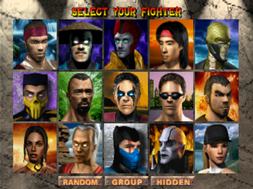 Mortal Kombat 4 Characters Selection Screenshot