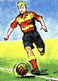 cartoon of a footballer