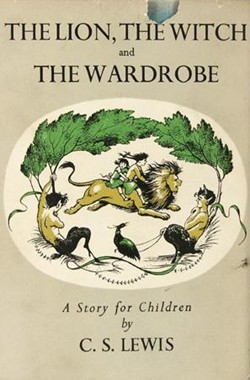 The Lion, the Witch and the Wardrobe by C.S. Lewis, first edition cover