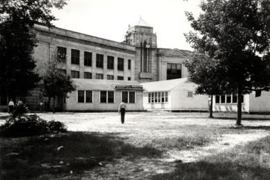 UH held its first classes at San Jacinto High School in 1934 University of Houston in 1934.jpg