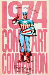1974 program book featuring Joe Simon's original 1940 sketch of Captain America