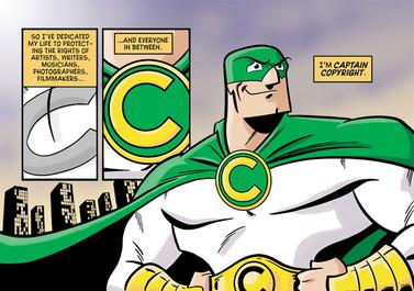 Captain copyright ha perso qualche duro colpo nella Gotham city di Internet.