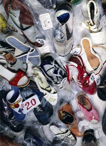 Passengers' footwear retrieved by Soviets from the crash site