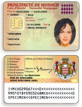 Monégasque identity card - Wikipedia