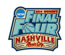 The official 2014 Women's Final Four logo.