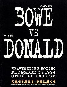 Riddick Bowe vs. Larry Donald Boxing competition