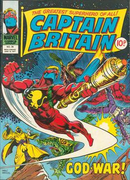 Captain Britain (vol. 1) #36 (1977). Art by Pa...