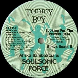 Looking for the Perfect Beat 1983 single by Afrika Bambaataa & The Soulsonic Force