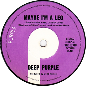 Maybe Im a Leo 1972 song with lyrics by Roger Glover performed by Deep Purple