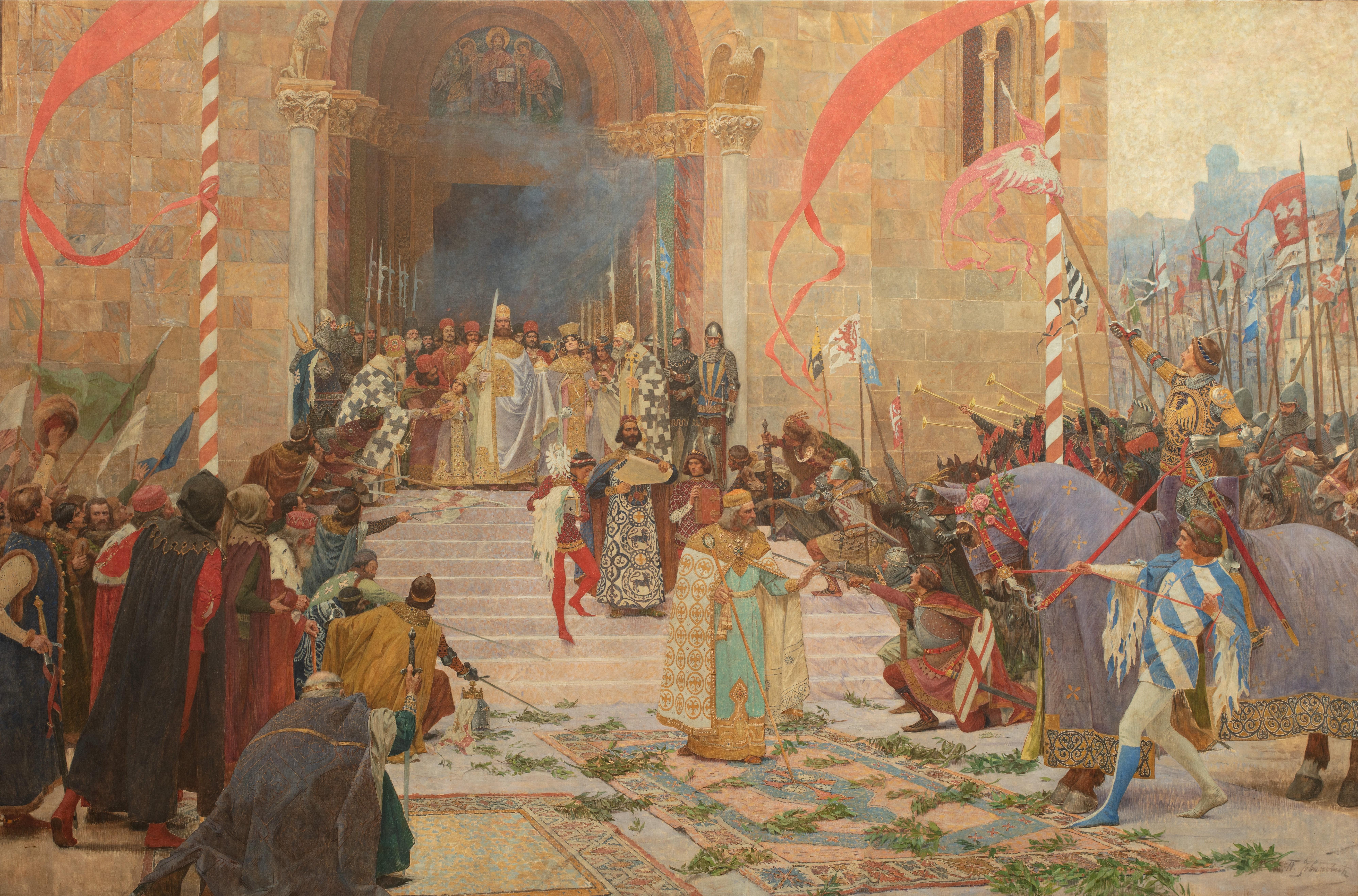 Paja Jovanović - Coronation of Emperor Dušan