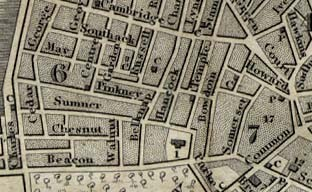 Map of Beacon Hill from 1842