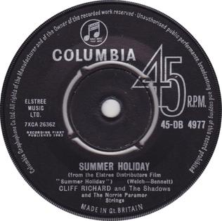 Summer Holiday (song) 1963 Cliff Richard song