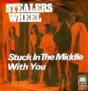 Stuck in the Middle with You 1973 single by Stealers Wheel