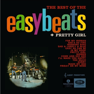 <i>The Best of The Easybeats + Pretty Girl</i> 1967 greatest hits album by The Easybeats