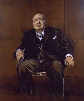 80 års present man Sutherland's Portrait of Winston Churchill   Wikipedia 80 års present man