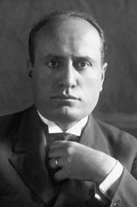 A young Mussolini in his early years in power