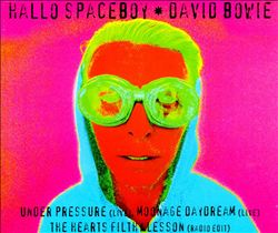 Hallo Spaceboy song by David Bowie from his 1995 album Outside, and was issued as a single in 1996