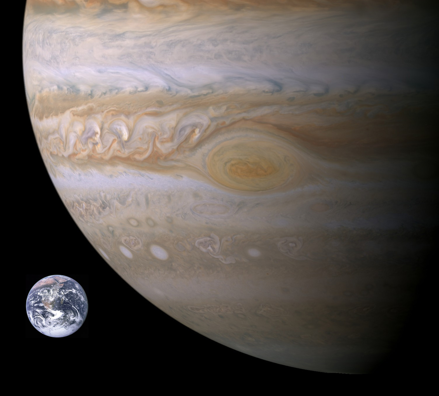 planet jupiter size compared to earth - photo #31
