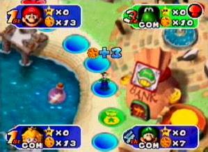 mario party 1 2 3  portable español